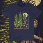 Front view Night Hike Sas unisex shirt (navy) - Fernweh Gear