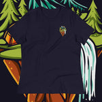 front view Campsite Nine women's shirt (navy) - Fernweh Gear