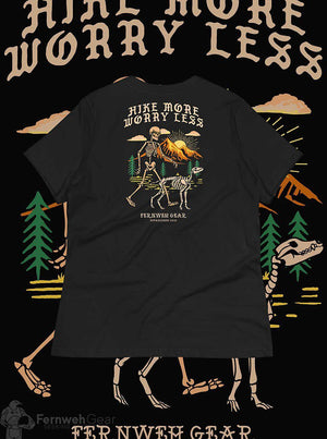 back view Hike More Skelly women's shirt (black) - Fernweh Gear
