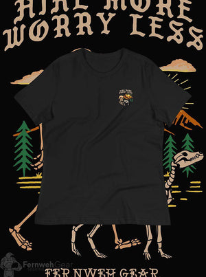 front view Hike More Skelly women's shirt (black) - Fernweh Gear