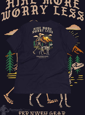back view Hike More Skelly women's shirt (navy) - Fernweh Gear
