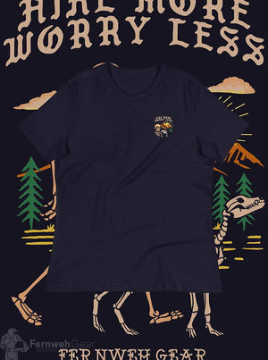 front view Hike More Skelly women's shirt (navy) - Fernweh Gear