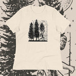 front view Night Hike Sas Stamp women's shirt (heather prism natural) - Fernweh Gear