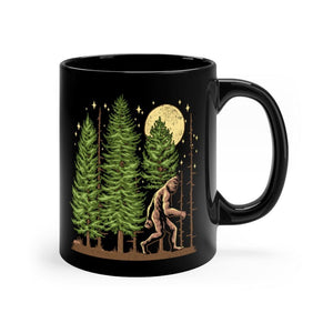 Night Hike Sas - Black Ceramic Mug 11oz