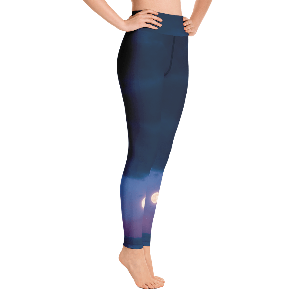 Dusk Moonrise Women's Active Leggings