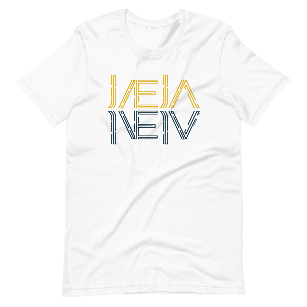 front view Jaeja Reflection unisex shirt (white) - Fernweh Gear