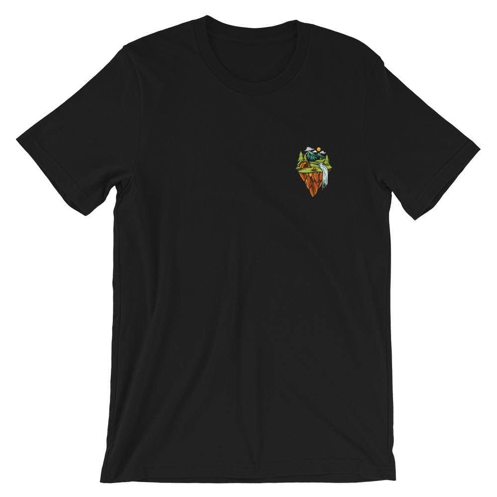 front view - Campsite Nine - unisex shirt - black -  Fernweh Gear