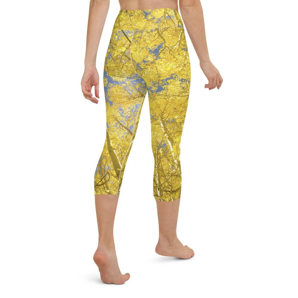 Tree Glow - Women's Active Capri Leggings