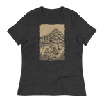 front view Cascade Solitude women's shirt (dark grey heather) - Fernweh Gear
