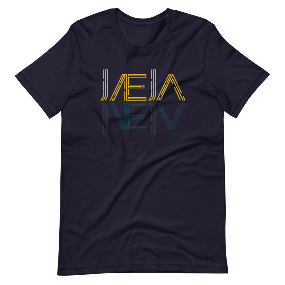 front view Jaeja Reflection unisex shirt (navy) - Fernweh Gear