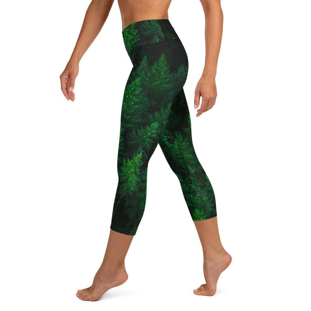 Woken Pine - Women's Active Capri Leggings - Fernweh Gear