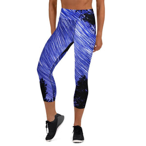 Cosmic Swirl - Women's Active Capri Leggings