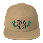 PNW Simply The Best - 5-Panel Cap (Black Text) - Fernweh Gear