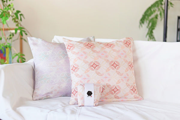 Cushion Covers Made Of Embroidered Silk Kimono Fabric