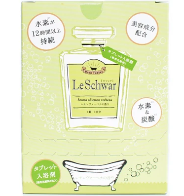 Le Schwar (6 pcs) Bath salt with hydrogen and carbonic acids (with lemon verbena flavor)