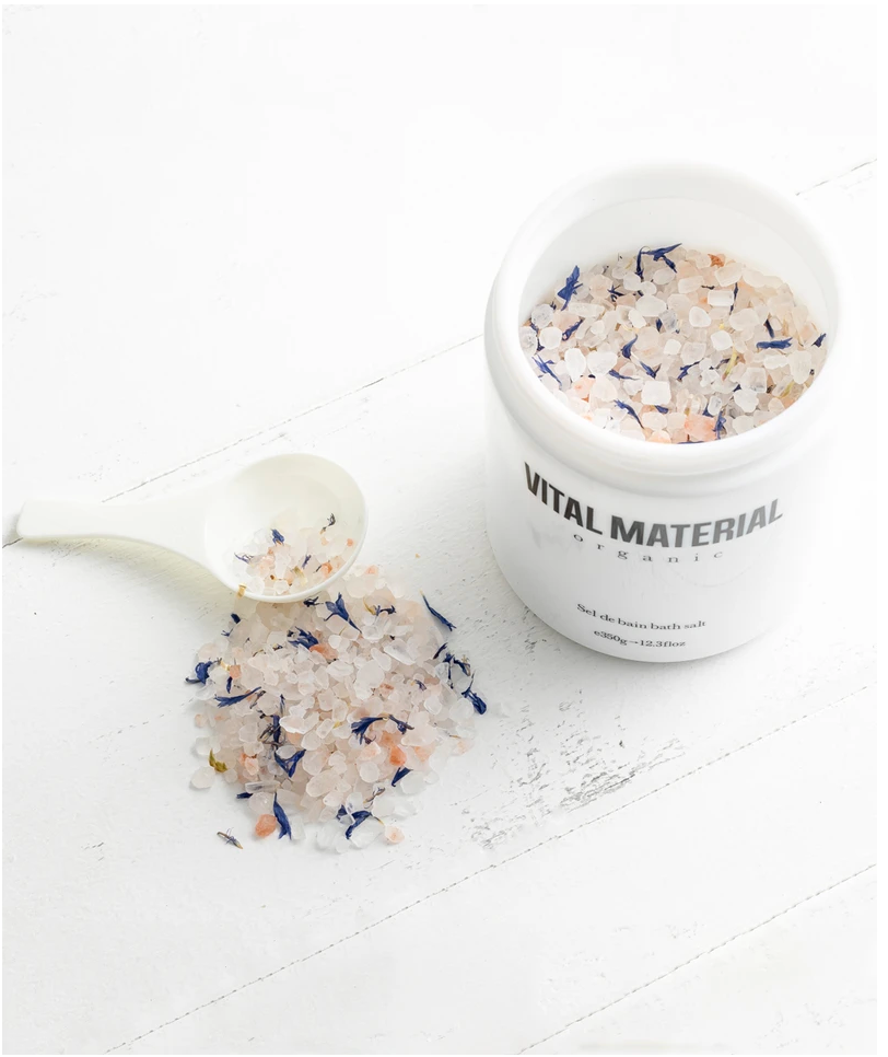 VITAL MATERIAL ORGANIC Himalayan pink bath salt with organic oils and herbs