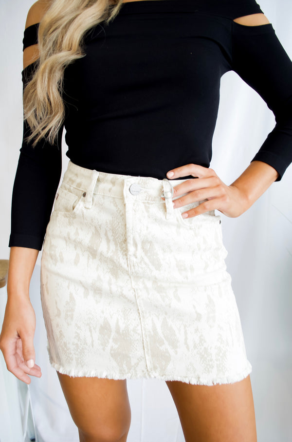 Sassy in Snakeskin Skirt