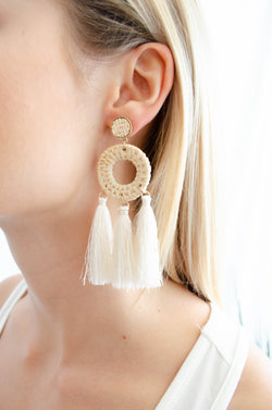 Whicker Tassel Earrings