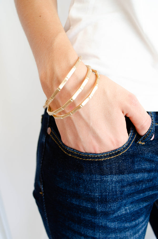 Gold Bangles (Set of 3)