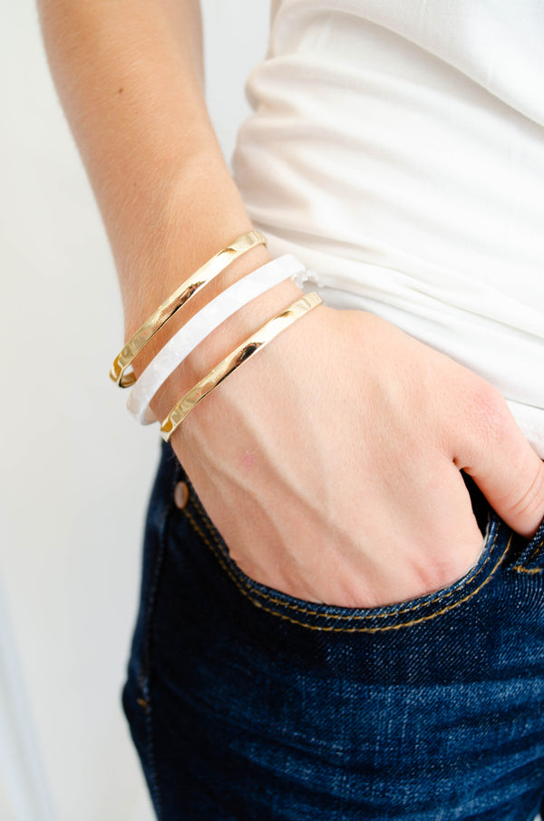 Gold and White Cuff