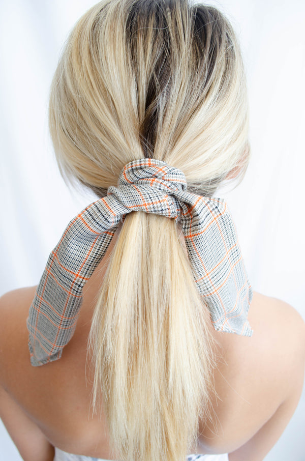 Plaid Wired Hair Scarf