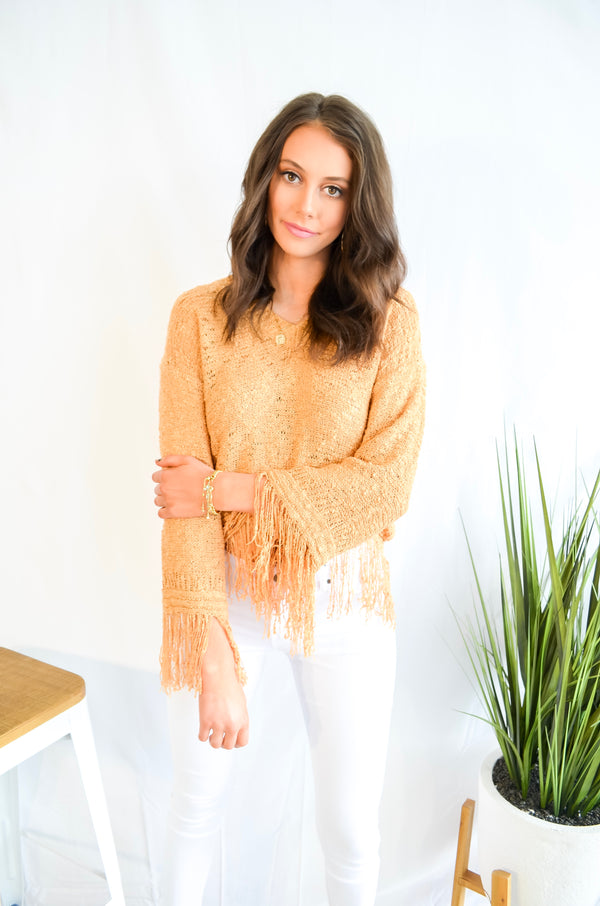 On the Fray Knit Top