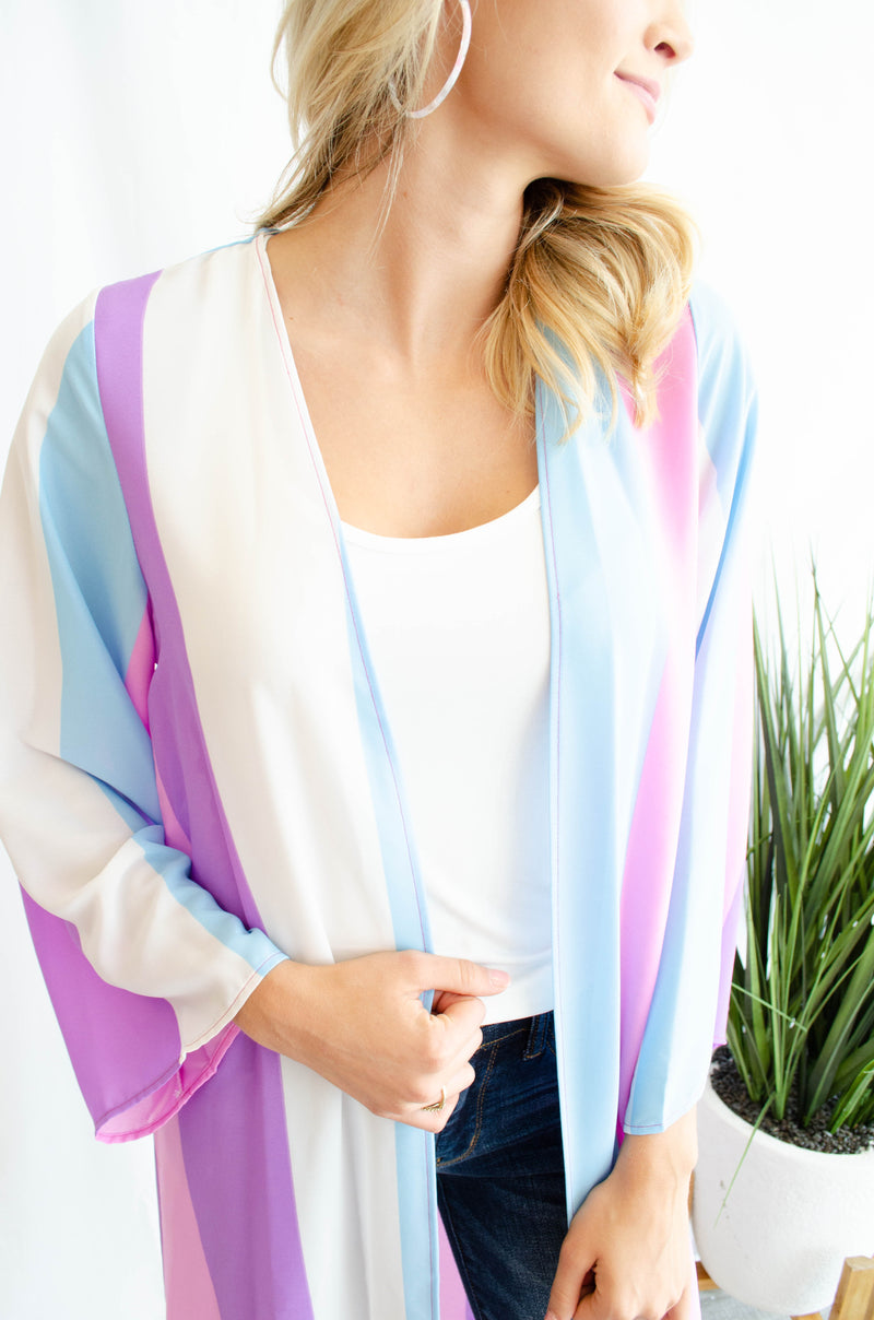 Bright Stripes Duster