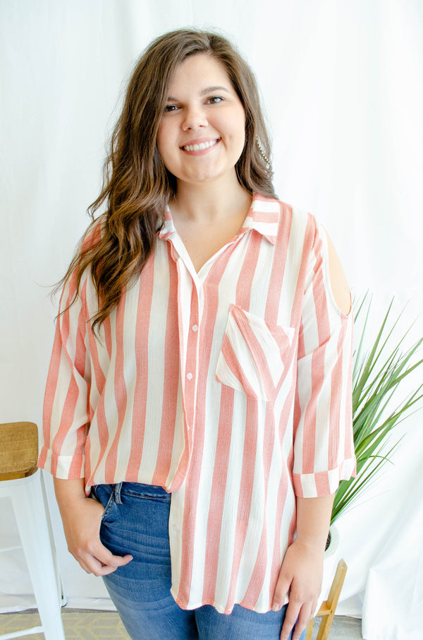 Stripe Out Top