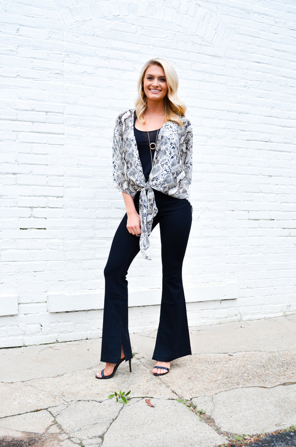 Classic Black Flare Jeans