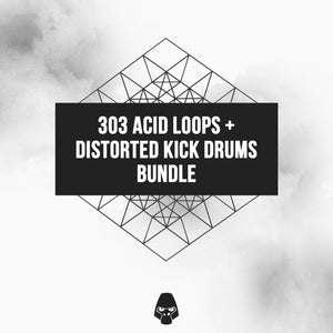 303 Acid Loops & Distorted Kick Drums Bundle - Sample Pack