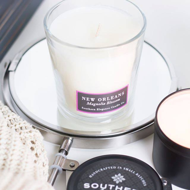 Southern Elegance Magnolia Blossom Candle