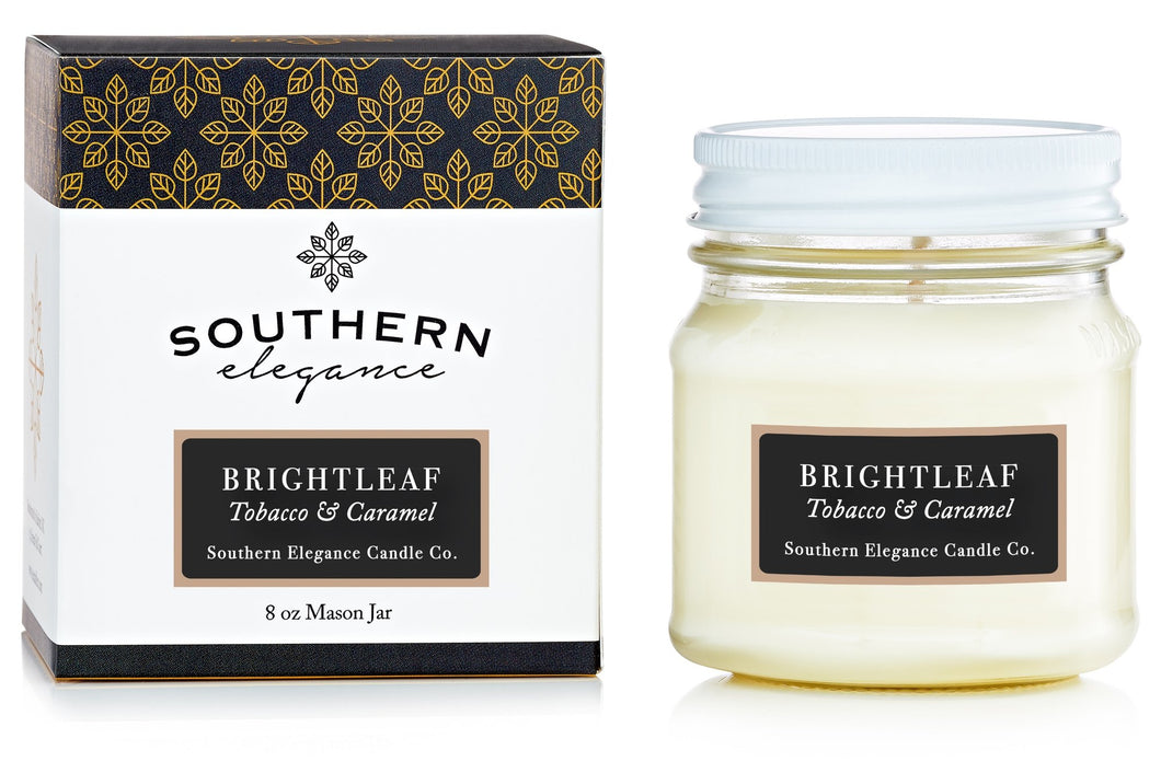 Southern Elegance Brightleaf Tobacco and Caramel Candle