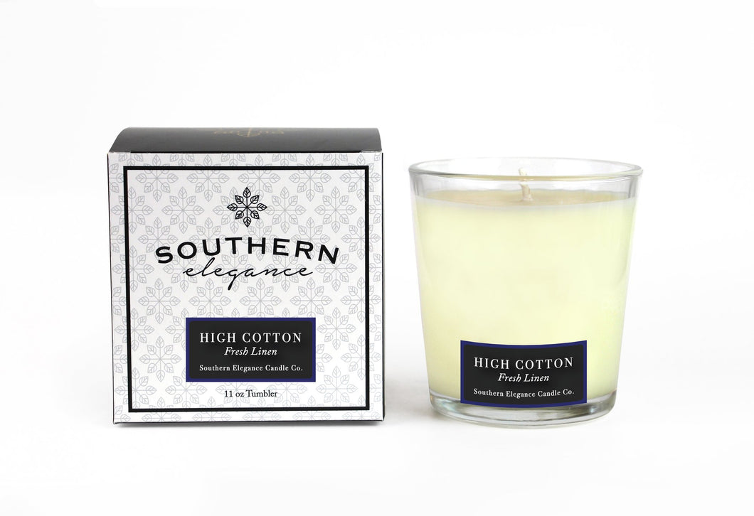Southern Elegance High Cotton Tumbler Candle