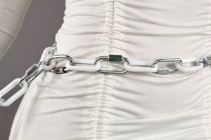 WHITE CHAINED BELT 2.0