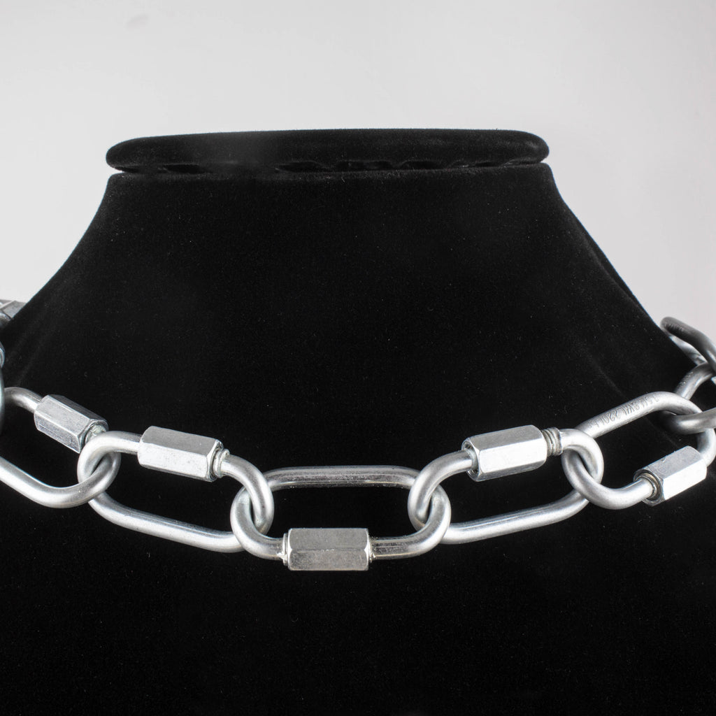 reversible industrial necklace/pant chain