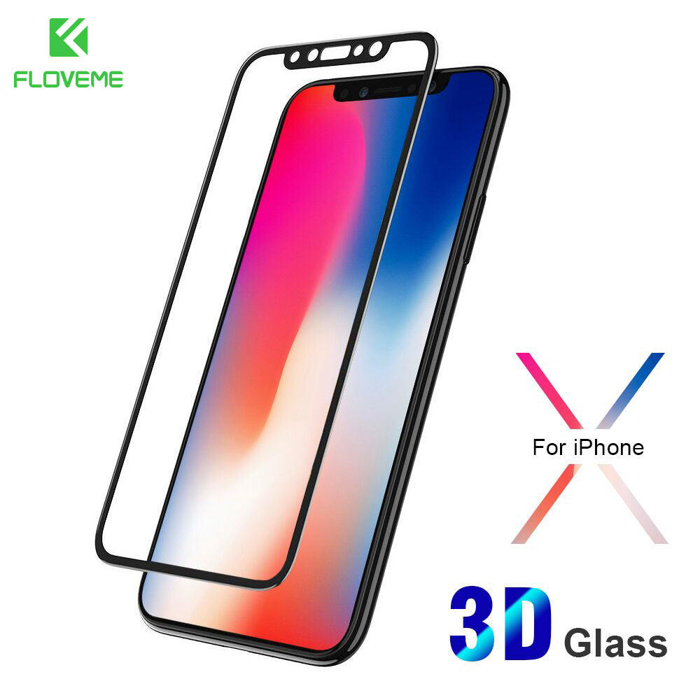 3D Screen Protector For iPhone X 10 Tempered Glass Film 0.26mm
