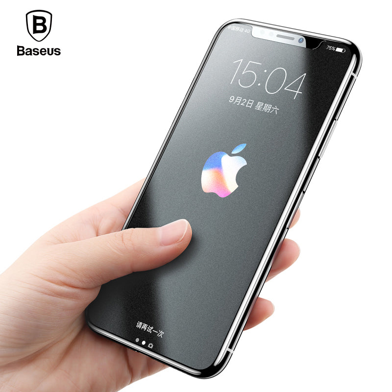 Screen Protector For iPhone X Tempered Glass 0.25mm Ultra Thin Anti Fingerprint Protective Glass