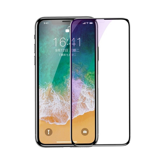 3D Surface Full Screen Protector For iPhone X Glass Slim Front Protective Tempered Glass For iPhone X
