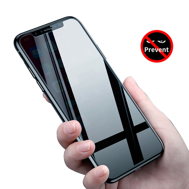 Baseus Anti Spy Glass For iPhone X 10 Screen Protector