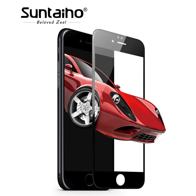 Suntaiho Carbon Fiber 3D Soft Edge Tempered Glass For iphone 6S 9H 0.2mm Screen Protector