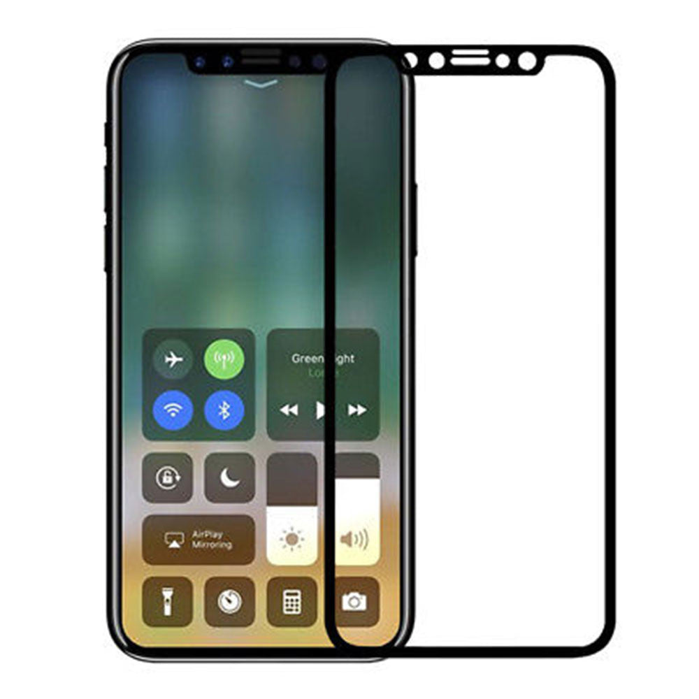 9H Curve Soft Edge Temper Glass Screen Protector For iPhone X Anti-Scratch
