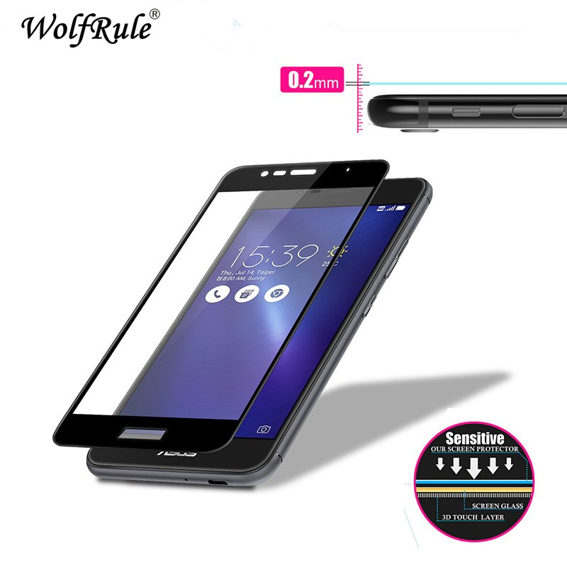 2pcs Glass Asus Zenfone 3 Max ZC520TL screen protector Film 2.5D Anti-Brust