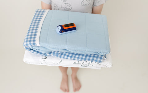 Brolly Sheet bed pad and wireless bed wetting alarm