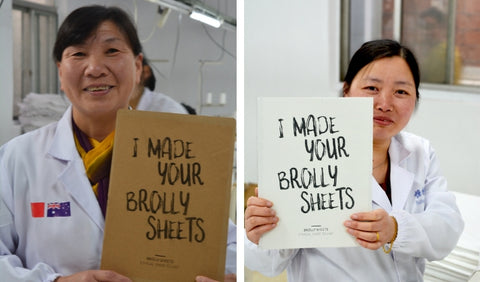 Brolly Sheets - meet the ladies who make them