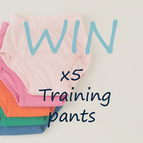 win 5 pairs of absorbent training pants