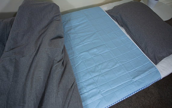 Brolly Sheets Waterproof Absorbent Bed Pad - Blue