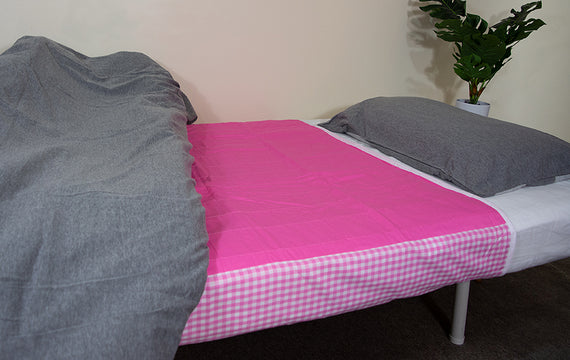 Brolly Sheets Waterproof Absorbent Bed Pad - Pink