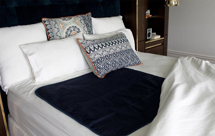 Navy Bed Pad Without Wings