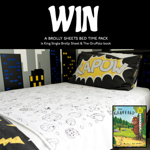 Win a Brolly Sheet and Gruffalo Book Prize Pack
