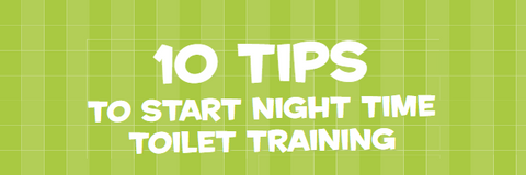 Screenshot of the top of the night-time toilet training tips guide